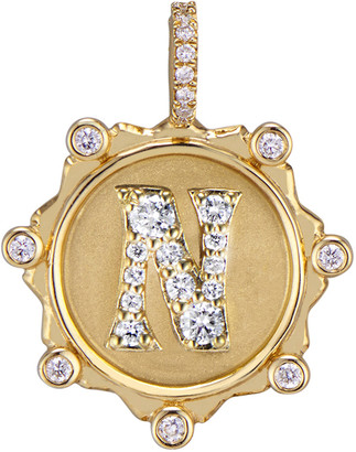 Marlo Laz Initial Coin Charm - Yellow Gold