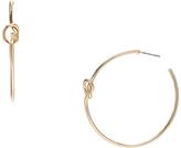 Carole Goldtone Knot-Accent Hoop Earrings
