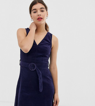 New Look pinny in cord-Navy