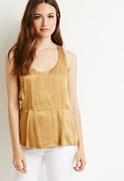 Forever 21 FOREVER 21+ Contemporary Pleated Sateen Top