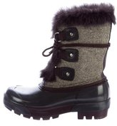 Hunter Fur-Trimmed Snow Boots