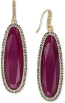 INC International Concepts Gold-Tone Large Oval Stone Drop Earrings, Only at Macy's