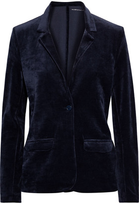 Majestic Filatures Stretch Cotton And Modal-blend Velour Blazer