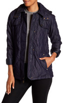 Vince Camuto Hooded Quilt Jacket