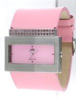 Elite Viva Ladies Stone Set Pink Strap Watch E5068.2.212