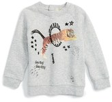 Stella McCartney 'Billy Tiger' Sweatshirt (Baby Girls)
