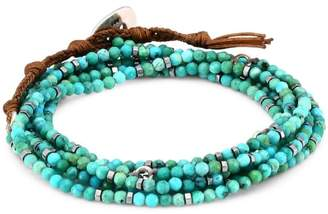 Chan Luu Mixed Turquoise Beaded Wrap Bracelet