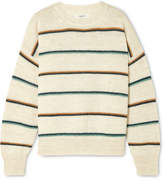 Etoile Isabel Marant Gatlin Striped Alpaca-blend Sweater - Ecru