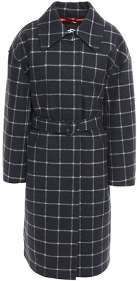 Ienki Ienki Mac Checked Wool-blend Felt Down Coat