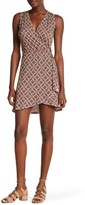 Loveappella Sleeveless Faux Wrap Dress