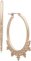 lonna & lilly Gold-Tone Decorated Oval Hoop Earrings