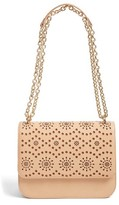Chelsea28 Dahlia Perforated Faux Leather Shoulder Bag - Brown