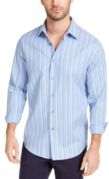 Tasso Elba Men's Stretch Geo-Stripe Dobby Shirt, Created for Macy's