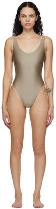 JADE SWIM Taupe Contour One-Piece Swimsuit