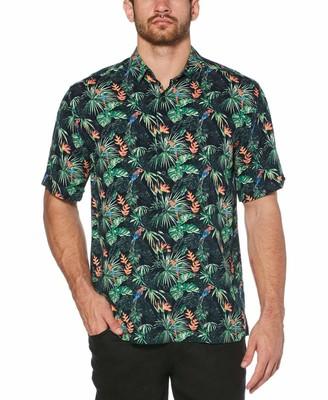 Cubavera Big & Tall Parrots in paradise printed shirt