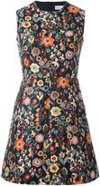 RED Valentino floral embroidery A-line dress - women - Cotton/Polyester/Acetate - 44