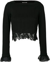 3.1 Phillip Lim Lace-trimmed top