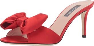 Sarah Jessica Parker Women's Finley Heeled Sandal red Satin 35 M EU (4.5 US)