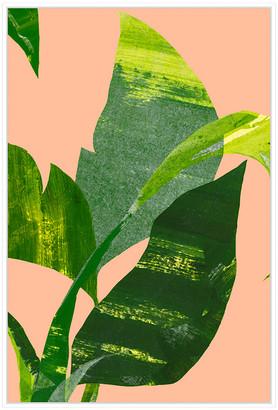 Jonathan Bass Studio Palm Leaf Ii, Decorative Framed Hand Embellished C
