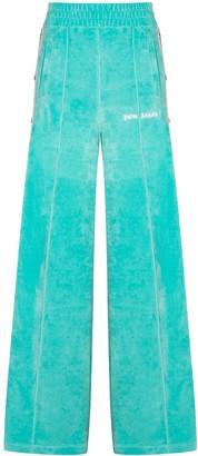 Palm Angels Side-Stipe Wide-Leg Track Pants