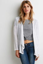 Forever 21 FOREVER 21+ Contemporary Embroidered Mesh Cardigan