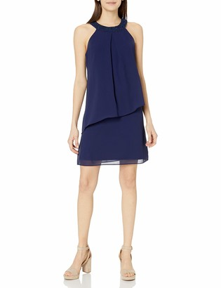 Amy Byer A. Byer Junior's Asymmetrical Popover Shift Dress