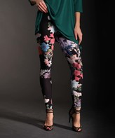 Lbisse Women's Leggings MULTICOLOR - Pink & Blue Floral Leggings - Women & Plus