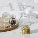 Crate & Barrel Mini Spice Jars with Clamp Set of Six