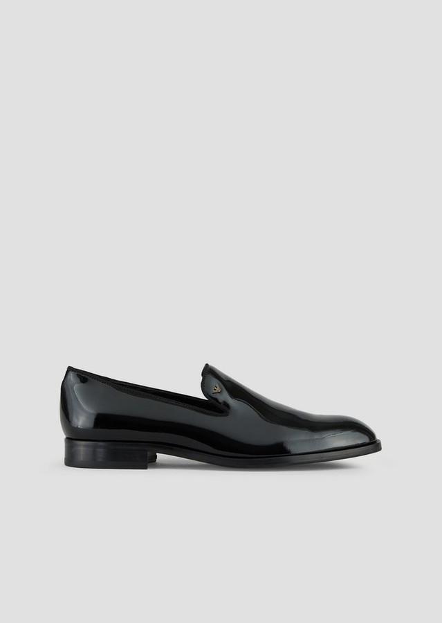 Emporio Armani Loafer In Patent Leather