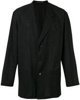 Yohji Yamamoto casual blazer - men - Cotton/Linen/Flax - 4