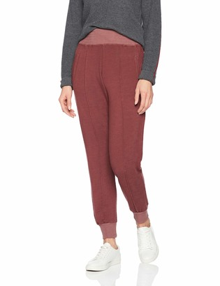 Monrow Women's Supersoft High Waisted Stitched Sweats with Cuff
