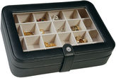 Asstd National Brand Black Faux-Leather Clear-Top Jewelry Box