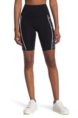 Marika Camo Panel High Waisted Bike Shorts