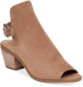 Lucky Brand Women's Bray Buckle Slingback Peep-Toe Booties