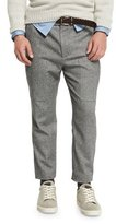 Brunello Cucinelli Herringbone New Cargo Pants, Lead