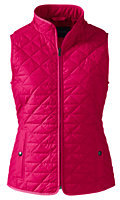 Classic Women's Petite Quilted Primaloft Vest-Coral Ruby