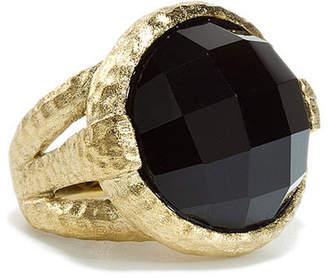 Rivka Friedman 18K Gold Clad Onyx Ring