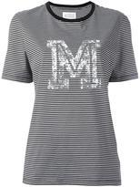 Maison Margiela striped M print T-shirt