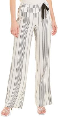 Ecru The Seaview Silk-Blend Pant