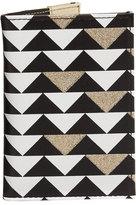 Neiman Marcus Triangle-Print Passport Case, Multi