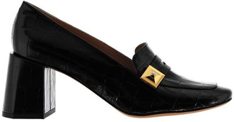 Mulberry Slip On Mid Heel Loafers
