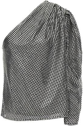 IRO Serifos One-shoulder Studded Crepe Top