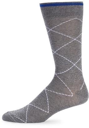 Saks Fifth Avenue Raker Diamond Socks