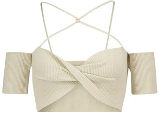 Jacquemus Le Haut Soleil ribbed-knit crop top