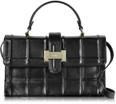 Rodo Black Nappa Leather Lunch Bag