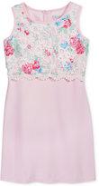 Blush by Us Angels Floral-Print Lace Sheath Dress, Big Girls (7-16)