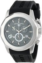 Swiss Legend Men's 10042-014 Monte Carlo Chronograph Textured Dial Black Silicone Watch
