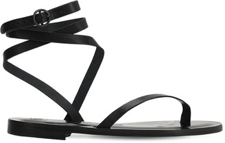 Álvaro González 10mm Leather Thong Sandals