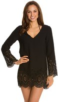 Kenneth Cole Reaction Scalloped Away Cover Up Tunic 8123507
