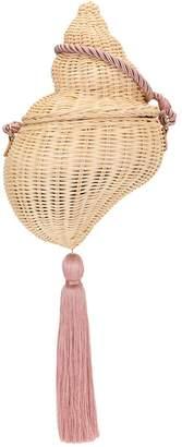 Poolside shell bucket bag